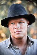 Actor Luke Ford (Snowy Rowles) on the set of 'Blood In The Sand' - Beverley Western Australia - Still photograph by David Dare Parker