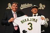 20121218 - Oakland Athletics Hiroyuki Nakajima Press Conference