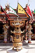 Temple next to Mee Ton Poe restaurant, in Sino-Portuguese Colonial Quarter, Phuket.
