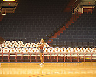 "Ole Miss Rebelette dances before the game against Southeastern Louisiana at the C.M. ""Tad"" Smith Coliseum in Oxford, Miss. on Saturday, December 11, 2010."