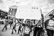WASHINGTON, USA - APRIL 18: Thousands march through the streets of Baltimore to seek justice for the death for Freddie Gray who died from injuries suffered in Police custody in Baltimore, USA on April 18, 2015.