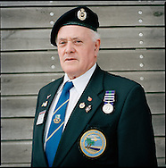 UK. Lichfield. Suez Veterans meet at the 50th Anniversary of the withdrawal from the Suez Canal in 1956. The event was held at the National Memorial Arboretum near Lichfield, UK. Photo shows former paratrooper Don Axon..Photo©Steve Forrest/Workers Photos