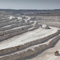 Cement Quarry with trucks