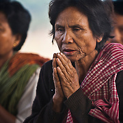 Former Khmer Rouge cadres offer Buddhist prayers during a blessing ceremony near Pailin, Cambodia, along the border with Thailand.