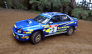 Cody Crocker & Greg Foletta.Subaru Impreza WRX.Motorsport-Rally.2003 NGK Rally of Melbourne.Yarra Valley, Victoria .5th of October 2003 .(C) Joel Strickland Photographics
