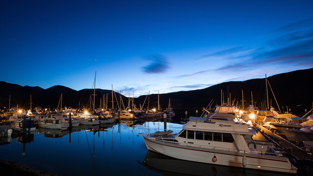Marlborough Sounds Marinas - Havelock  August 2013.<br /> Copyright: Gareth Cooke/Subzero Images