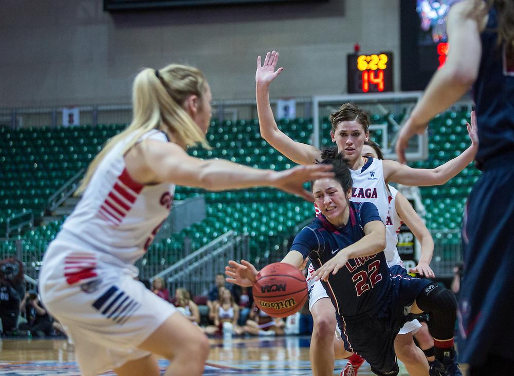 The Gonzaga women beat LMU 70-50.