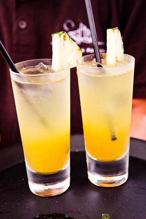 Refreshing drink on Alila Purnama.