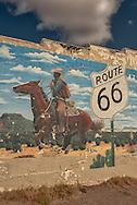 Historic Route 66, Tucumcari, New Mexico, mural, cowboy