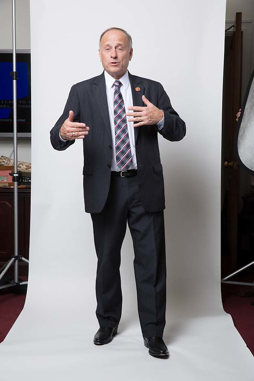 Representative Steve King (R-IA) poses for a portrait in his office on Capitol Hill in Washington on December 2, 2014.