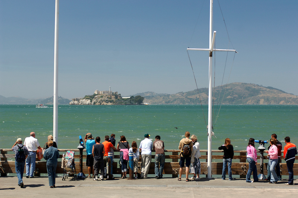 view over San Francisco Bay from Pier 39, San Francisco, California, United States of America