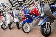 Vintage Vespa and Lambretta Scooters.