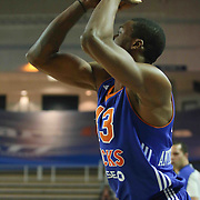Westchester Knicks Forward Thanasis Antetokounmpo (43) attempts a jump shot in the first half of a NBA D-league regular season basketball game between the Delaware 87ers and the Westchester Knicks (New York Knicks) Sunday, Dec. 28, 2014 at The Bob Carpenter Sports Convocation Center in Newark, DEL
