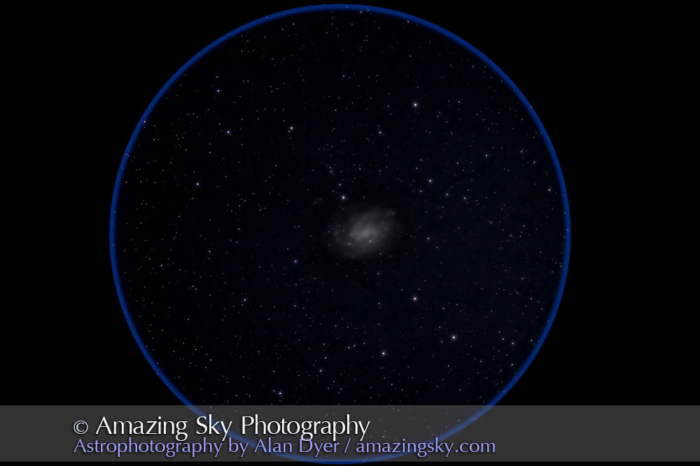 NGC 300, a classic spiral galaxy in Sculptor. This is a stack of 5 x 12 minute exposures at f/5.8 with the 105mm Traveler apo refractor and Canon 5D Matk II at ISO 800. Taken from Timor Cottage, Coonabarabran, NSW, Australia, December 2012.