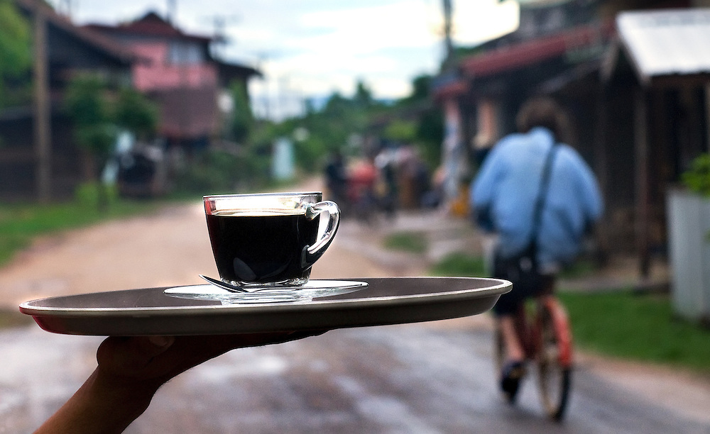 Organically grown coffee from 'Bolaven Coffee' on the Bolaven Plateau, Laos.
