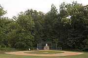 A baseball diamond, one of the many amenities found at the 8-acre musicians' compound, Thursday, July 26, 2012, at Liquid Sound Studios in Greenville, Ind. (Photo by Brian Bohannon)