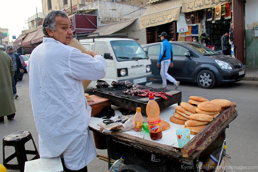 Africa, Morocco, Fes. Street food vendor of Fes.