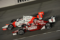 Scott Dixon, Ryan Briscoe, Peak Antifreeze and Motor Oil Indy 300, Chicagoland Speedway, Joliet, IL USA
