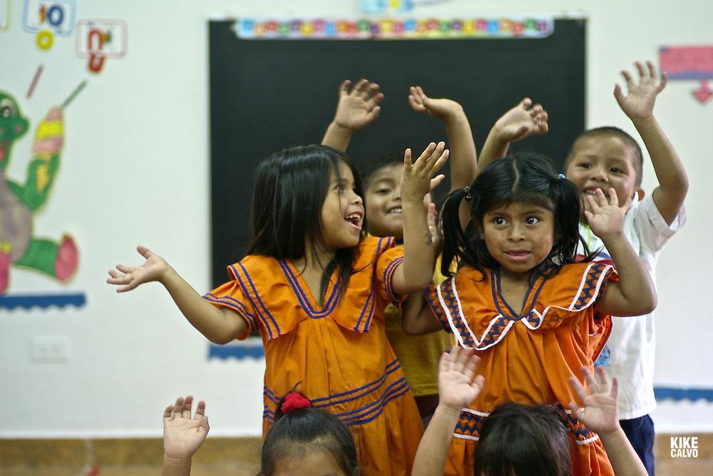 Indigenous working children at Casa Esperanza . Panama.