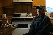Artist Adolf Downey at his home in Noatak, Alaska.