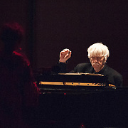 "Reinbert de Leeuw performs Reinbert de Leeuw's Im wunderschönen Monat Mai (""In the Merry Month of May""), a cycle of 21 songs on Schumann and Schubert at the 66th Ojai Music Festival on June 8, 2012 in Ojai, California."
