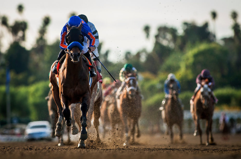 Game on Dude, ridden by Mike Smith wins the Santa Anita Handicap (G1) at Santa Anita Park on March 8, 2014 in Arcadia, California (Photo by Evers/Eclipse Sportswire)\