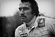 Scuderia Ferrari placed relentless pressure on their drivers to outperform each other. Swiss racing driver Clay Regazzoni displays his weariness over Ferrari politics at the end of the tumultuous 1972 Formula One season that gave him only one podium finish. He would leave Scuderia Ferrari for Marlboro BRM in 1973, but return to Ferrari in 1974, bringing along Marlboro sponsorship and a young Niki Lauda, to finish second in the World Driver's Championship.