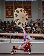 Lihua Zhao performs with the Beijing Dragon Show Culture & Arts Exchange Co. at Lafayette High School in Oxford, Miss., on Monday, April 1, 2013.