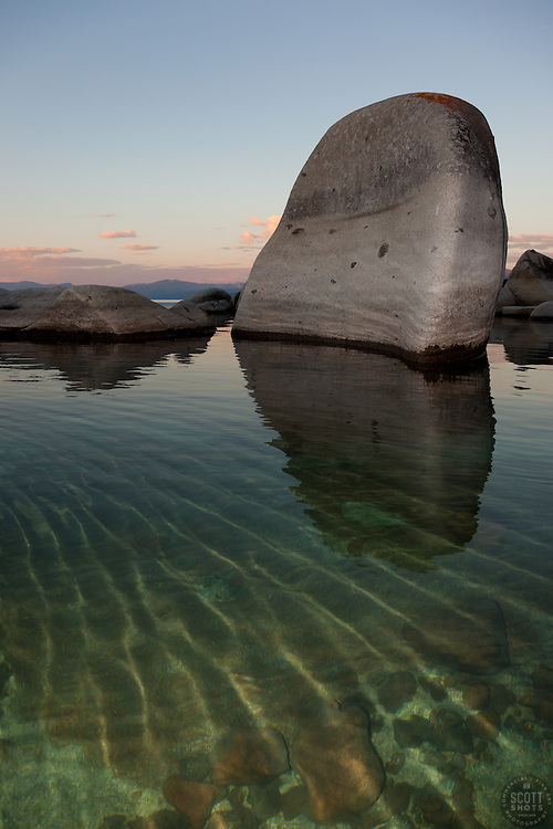 """""""Boulders at Lake Tahoe 12"""" - These boulders were photographed in the early morning near Speedboat Beach, Lake Tahoe."""