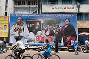 Billboards in the streets of Chennai. Chennai is the third largest commercial and industrial centre in India. It is considered to be the automobile capital of India, with a major percentage of the country?s automobile industry having a base in the city. Chennai is the second-largest exporter of IT services in India, behind Bangalore and is a base for the manufacture of hardware and electronics, with many multinational corporations setting up plants in its outskirts. The city faces problems with water shortages, traffic congestion and air pollution.