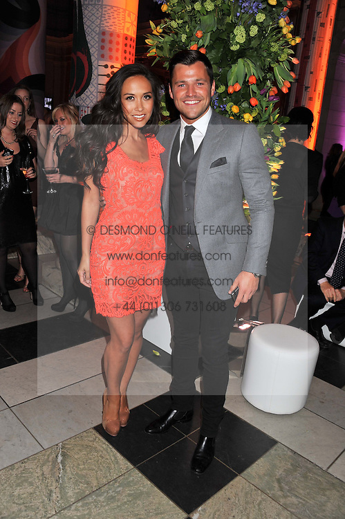 MYLEENE KLASS and MARK WRIGHT at the 50th birthday party for Jonathan Shalit held at the V&A Museum, London on 17th April 2012.