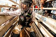 Crow Fair Rodeo, Junior Steer Rider, Crow Indian Reservation, Montana, Cain Thomas, Navajo