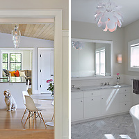 Kitchen and Bathroom of Connecticut House. Architect: Platt Dana