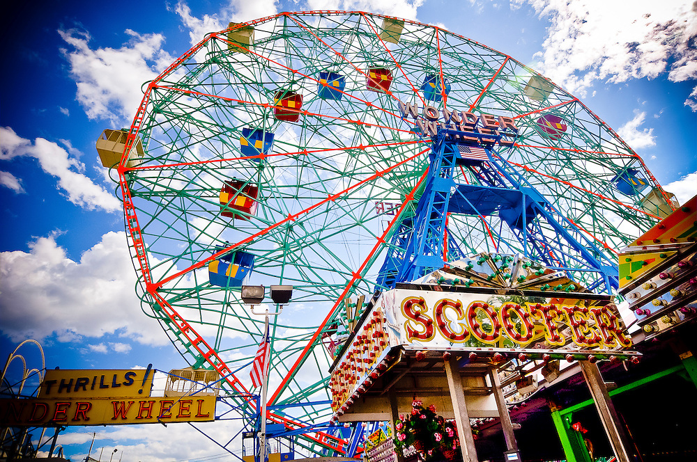 Wonder wheel in Coney Island, Brooklyn, New York, 2010.