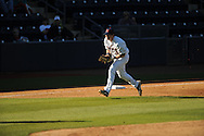 Ole Miss' Preston Overbey (1) fields a fly ball for an out vs. Arkansas State in baseball action at Oxford-University Stadium in Oxford, Miss. on Tuesday, February 21, 2012. Ole Miss won the home opener 8-1 to improve to 2-1 on the season. Arkansas State dropped to 0-3.