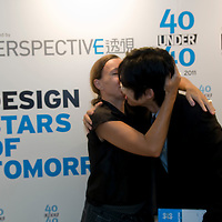 Adrian Wong receives his 40 Under 40 Perspective magazine award.