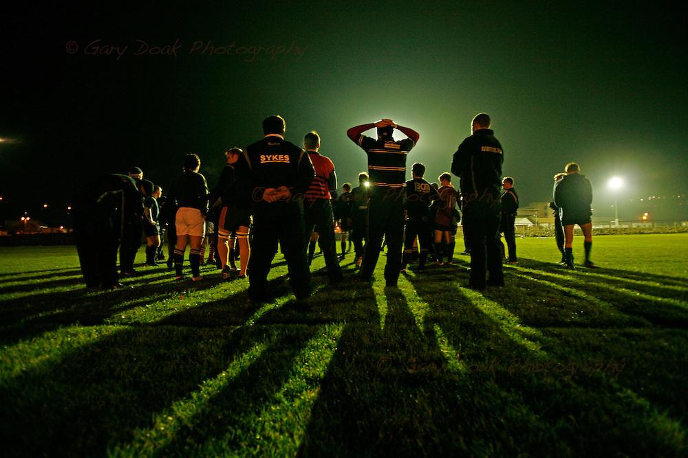 Gala Rugby Club mid-week training session.