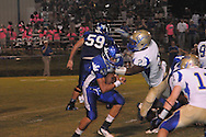 Water Valley's E.J. Bounds (5) vs. Bruce in Water Valley, Miss. on Friday, September 7, 2012. Water Valley won 17-16.