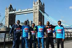 APR 09 2014 Celebrity London Marathon Photocall