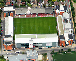 Image &copy;Licensed to i-Images Picture Agency. Aerial views. United Kingdom.<br /> Leyton Orient home ground, Brisbane Road or the Matchroom Stadium. Picture by i-Images