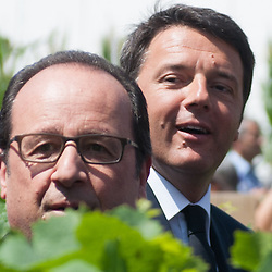 Foto Piero Cruciatti / LaPresse<br /> 21-06-2015 Milano, Italia<br /> Cronaca<br /> Expo - Giornata Nazionale della Francia con Francois Hollande<br /> Nella Foto: Fran&ccedil;ois Hollande, Matteo Renzi<br /> Photo Piero Cruciatti / LaPresse<br /> 21-06-2015 Milan, Italy<br /> News<br /> Expo - France National Day with Francois Hollande <br /> In the Photo: Fran&ccedil;ois Hollande, Matteo Renzi