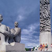Europe, Norway. Sculpture garden at Vigeland Park in Frognerseteren Park