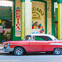 HAVANA, CUBA - JULY 18 : Old classic American car on one of Havana's streets on July 18 2016. There is nearly 60,000 vintage American cars in Cuba