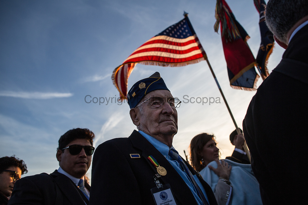 29th division veterans during the D-Day 70th anniversary ceremony on Omaha beach. The 29th division was one of the first to land on Omaha and suffered massive casualties