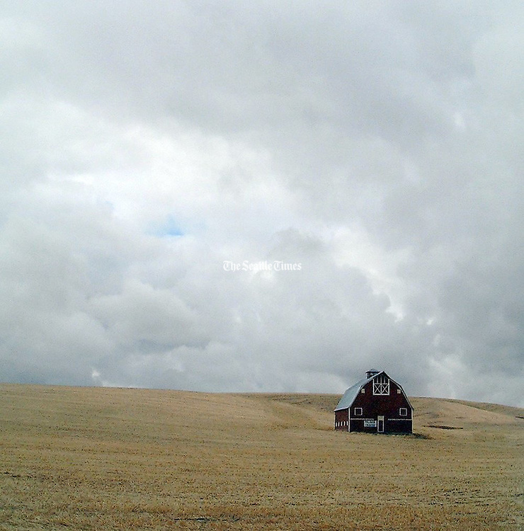 Barns and autumn skies are their own art forms in the Palouse. This is off Highway 195 just south of Uniontown. (Brian J. Cantwell / The Seattle Times)