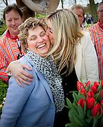 Estavana Polman heeft zaterdag in de Keukenhof een naar haar vernoemde tulp gedoopt.