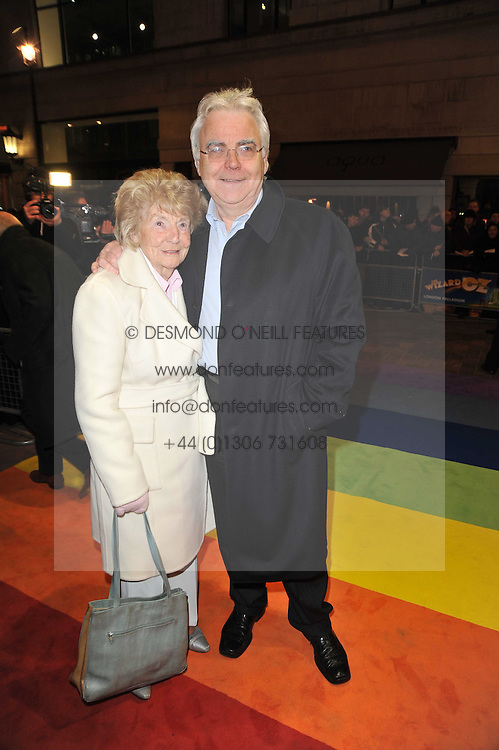 BILL KENWRIGHT and his mother HOPE KENWRIGHT arrive at the press night of the new Andrew Lloyd Webber  musical 'The Wizard of Oz' at The London Palladium, Argylle Street, London on 1st March 2011 followed by an aftershow party at One Marylebone, London NW1