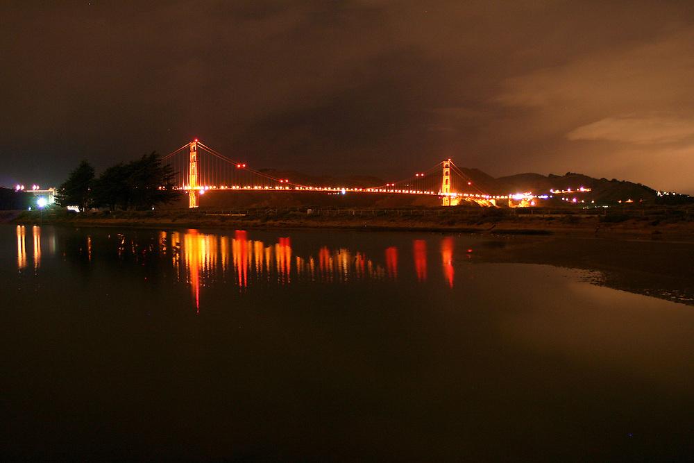 Golden Gate Bridge connecting San Francisco and Marin County, California