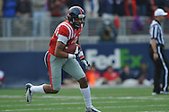 Mississippi wide receiver Donte Moncrief (12) vs. Arkansas at Vaught-Hemingway Stadium in Oxford, Miss. on Saturday, November 9, 2013. Mississippi won 34-24. (AP Photo/Oxford Eagle, Bruce Newman)