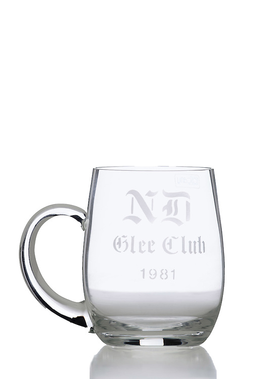 Notre Dame Glee Club Stein (Photo by Matt Cashore)